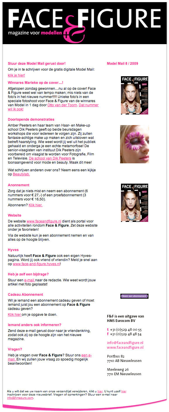BLOG by Amber: Face & Figure, magazine voor modellen